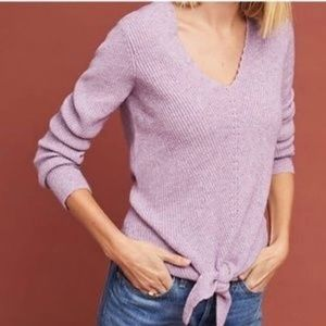 Anthropologie Moth tie front sweater